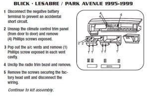 1997BUICKLESABREinstallation instructions