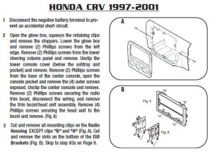 1997HONDACRVinstallation instructions