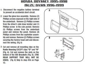 1997HONDAODYSSEYinstallation instructions