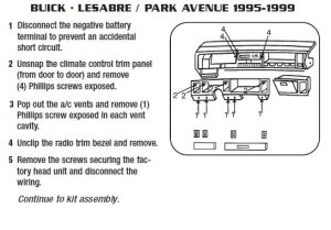 1998BUICKPARK AVENUEinstallation instructions