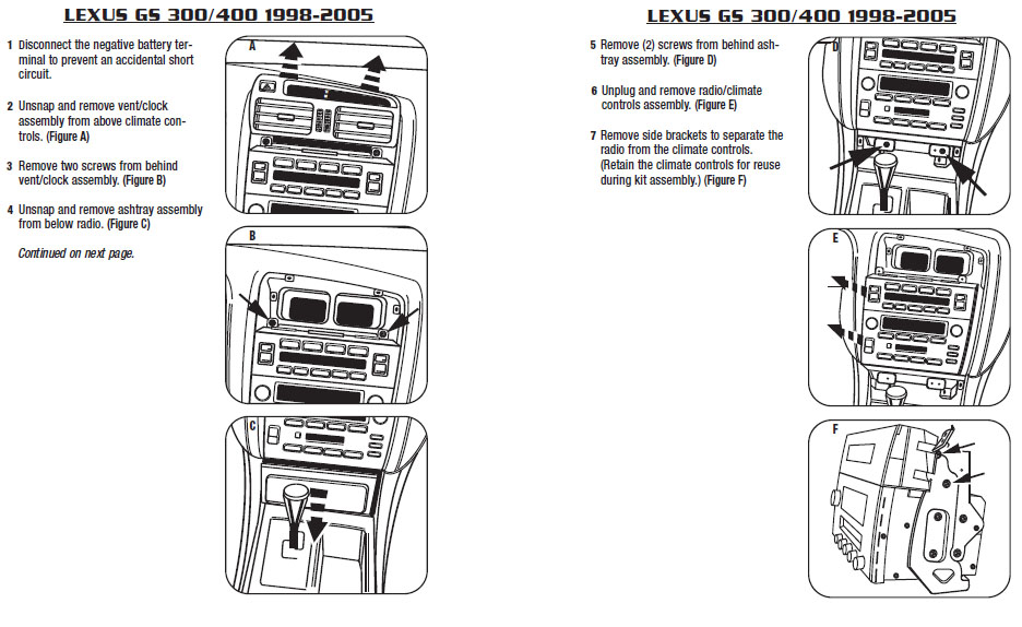 .1999-LEXUS-GS400installation instructions.