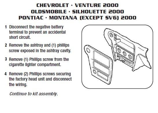 Chevy Venture Bcm Wiring 2000 Chevrolet Ventureinstallation Instructions