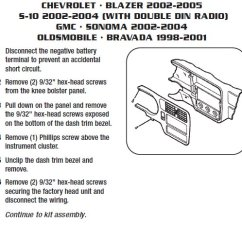 Wiring Diagrams For Car Stereo Installations 2000 Chevy Impala Engine Diagram .2002-chevrolet-blazerinstallation Instructions.