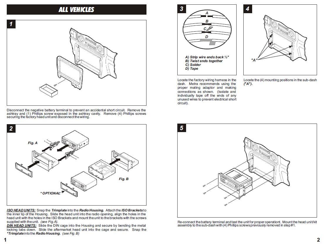 2002 isuzu rodeo stereo wiring diagram 7 flat trailer plug honda passportinstallation instructions