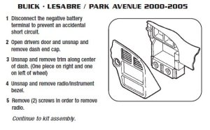 2003BUICKPARK AVENUEinstallation instructions