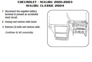 2003CHEVROLETMALIBUinstallation instructions