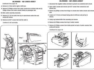2003HUMMERH2installation instructions