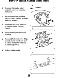 2006 Toyota highlander radio wiring diagram