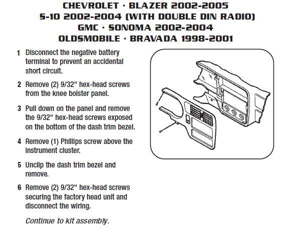 2005 Corvette Bose Wiring Diagram 2004 Chevrolet Blazerinstallation Instructions