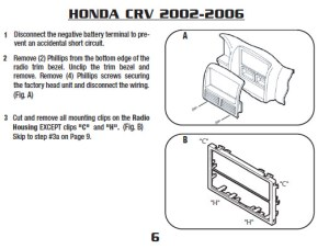 2004HONDACRVinstallation instructions