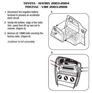 2004PONTIACVibeinstallation instructions