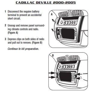 2005CADILLACDEVILLEinstallation instructions