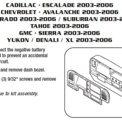 Wiring Diagrams For Car Stereo Installations Contactor Diagram Start Stop .2005-cadillac-escaladeinstallation Instructions.
