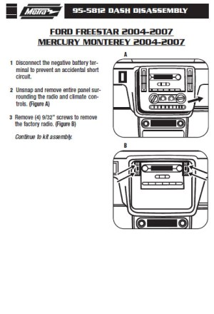2006FORDFREESTARinstallation instructions