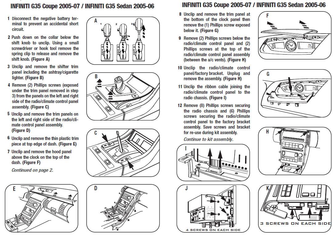 .2006-INFINITI-G35 Coupeinstallation instructions.