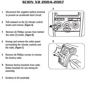 2006SCIONxBinstallation instructions