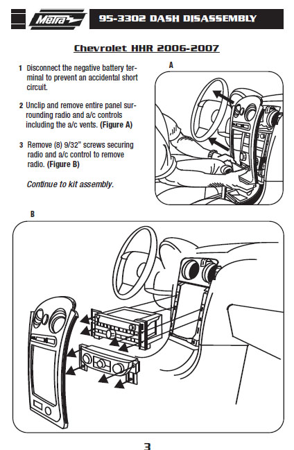 .2007-CHEVROLET-HHRinstallation instructions.
