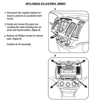 2007HYUNDAIELANTRAinstallation instructions