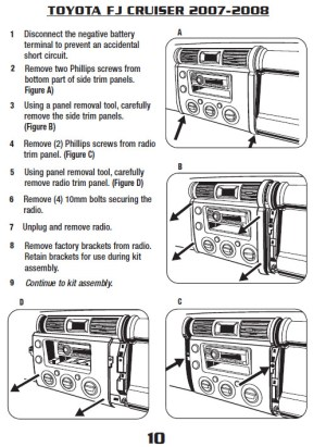 2007TOYOTAFJ CRUISERinstallation instructions