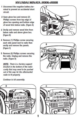2008HYUNDAISONATAinstallation instructions