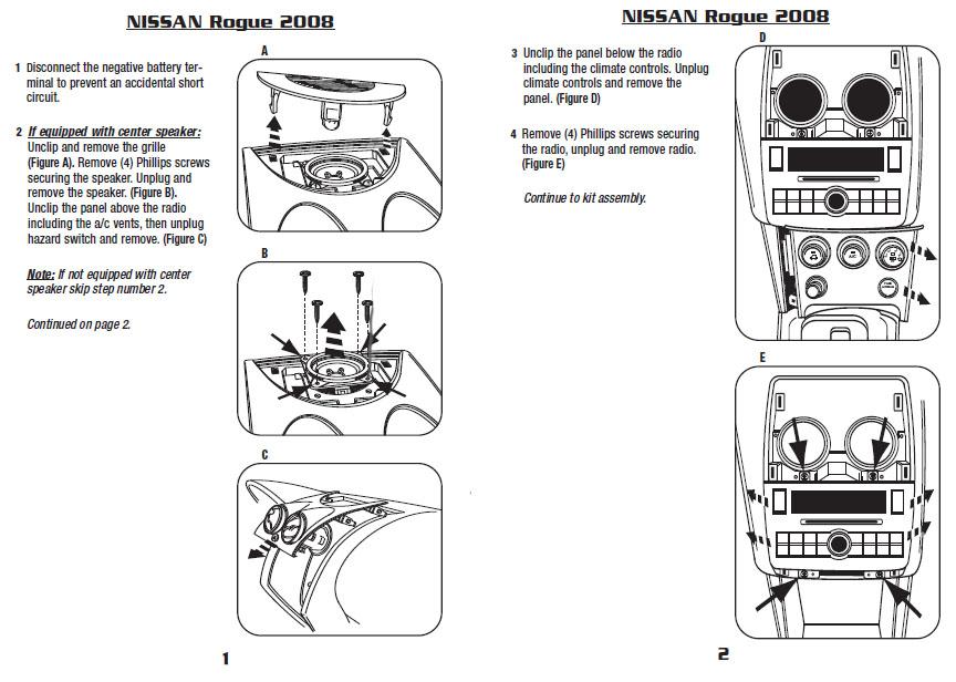 .2008-NISSAN-ROGUEinstallation instructions.