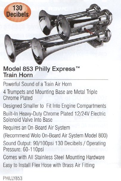 Model 853 Philly Express Train Horn ROCS PHILLY853
