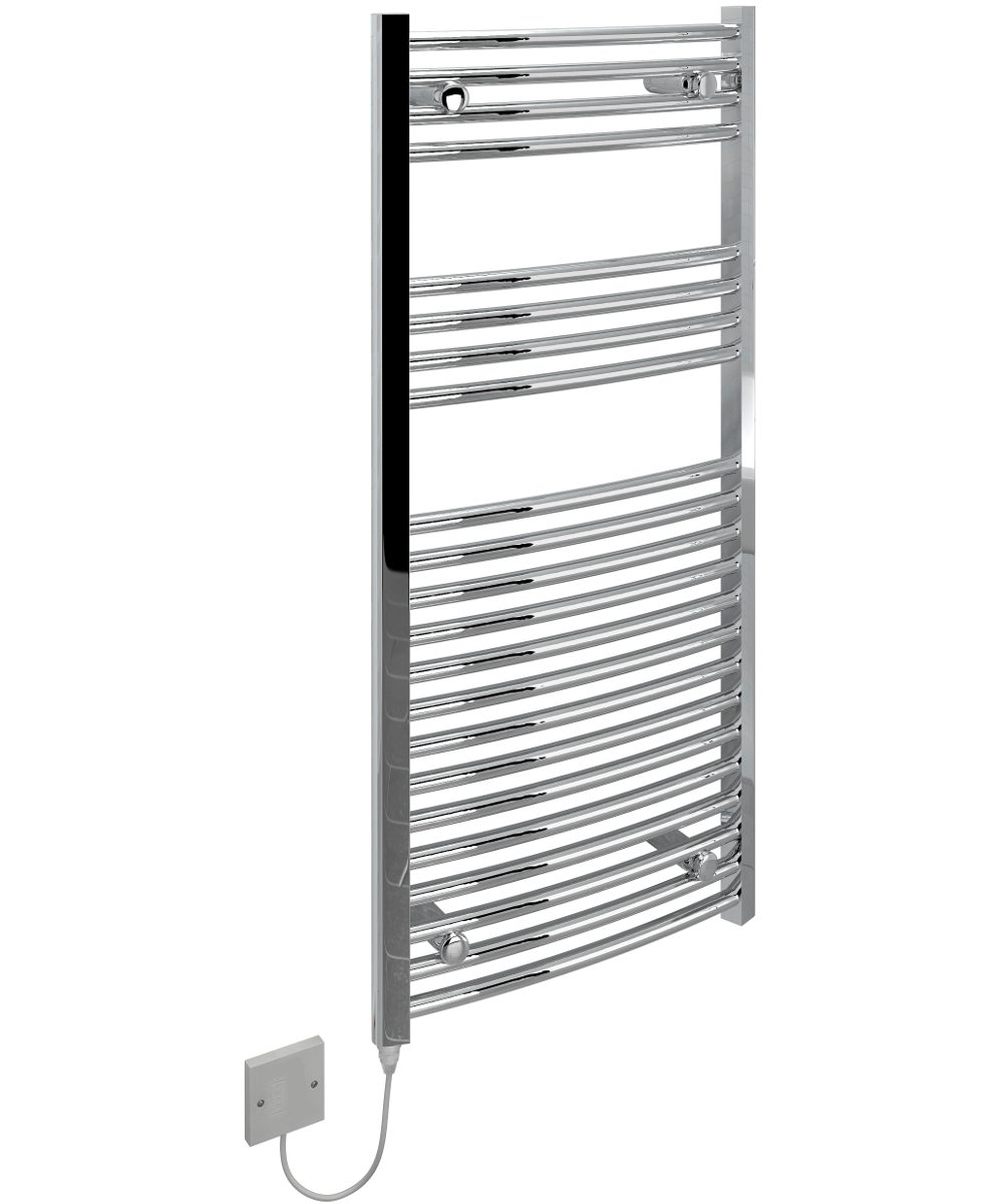 Kudox Electric Towel Rail Curved Chrome 500mm x 1100mm