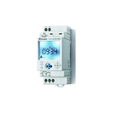 Interruttore orario digitale settimanale. 1 contatto in scambio - 16A Finder 126182300000. Programmazione tramite joystick o smartphone.