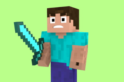 minecraft steve sword