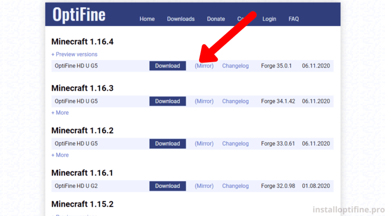 Step 1 Download OptiFine
