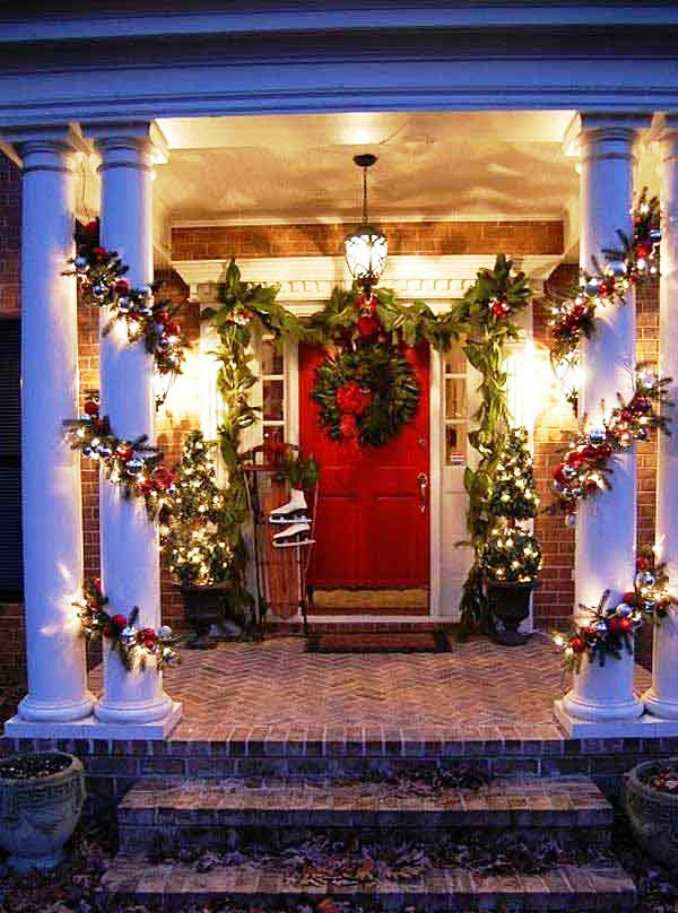 ideas for decorating your living room christmas center table with storage 25 amazing front porch ...