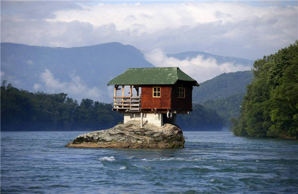 Home on a rock, Serbia