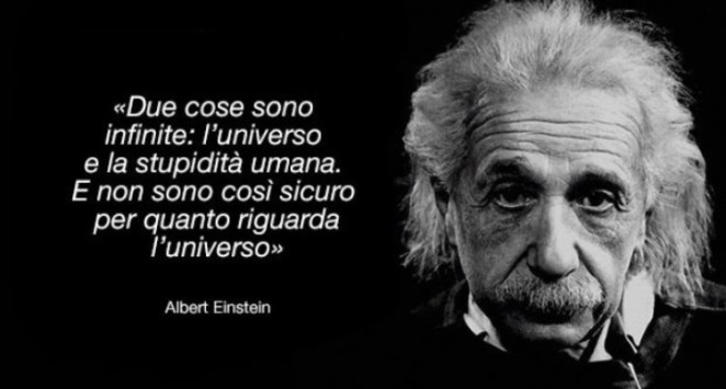 Frase Einstein stupidità