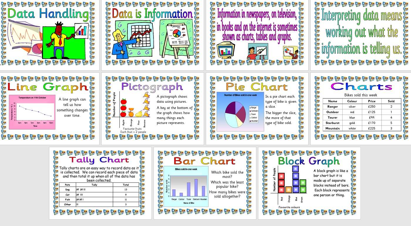 Free Printable Maths Posters Data Handing