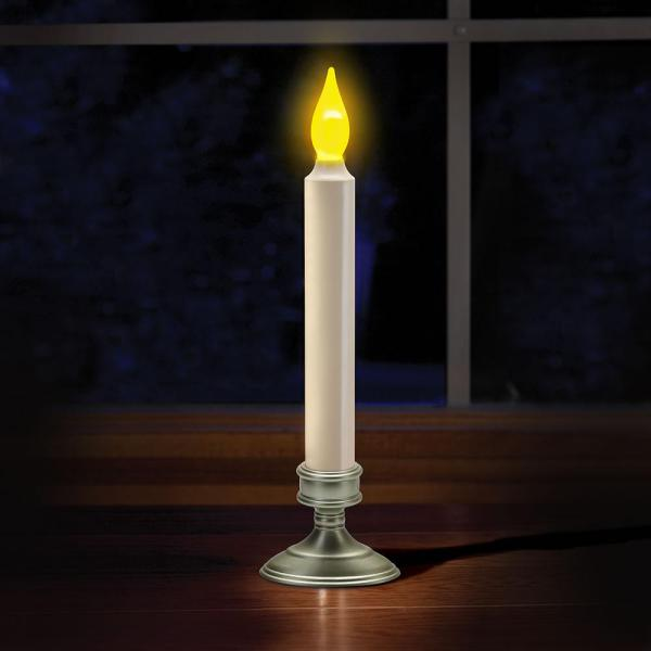 Set Of 4 Flameless Window Candles Flickering Led Withbuilt