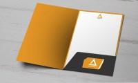 Pocket Folders With Business Card Holder - Business Card ...