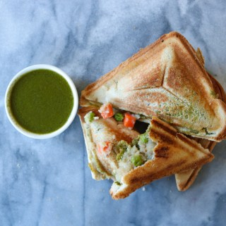 Samosa Sandwich (Spiced Potato Stuffed Sandwiches)