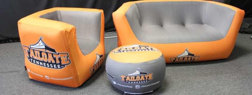 custom inflatable furniture - tailgating