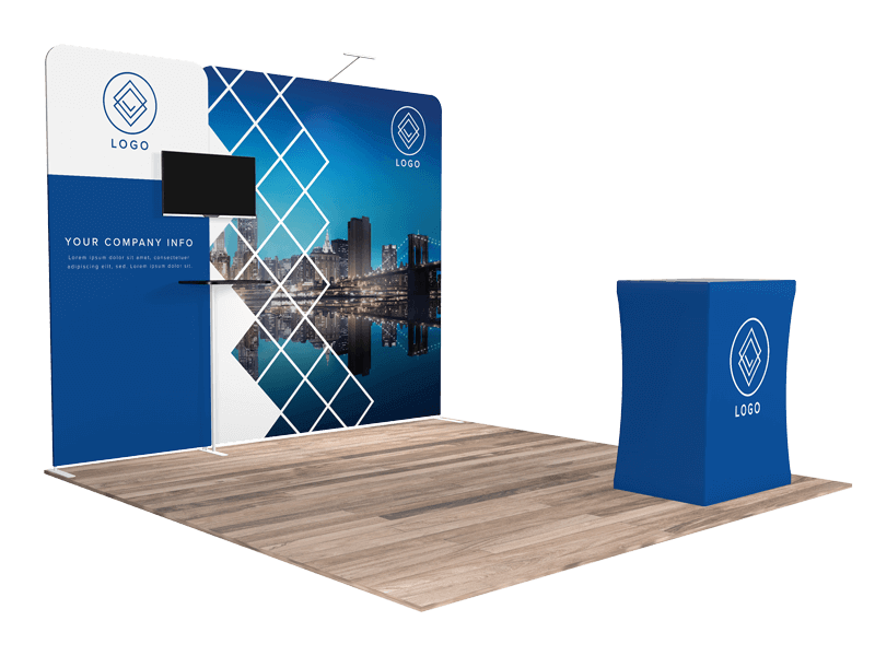 10x10 tradeshow booth 1111