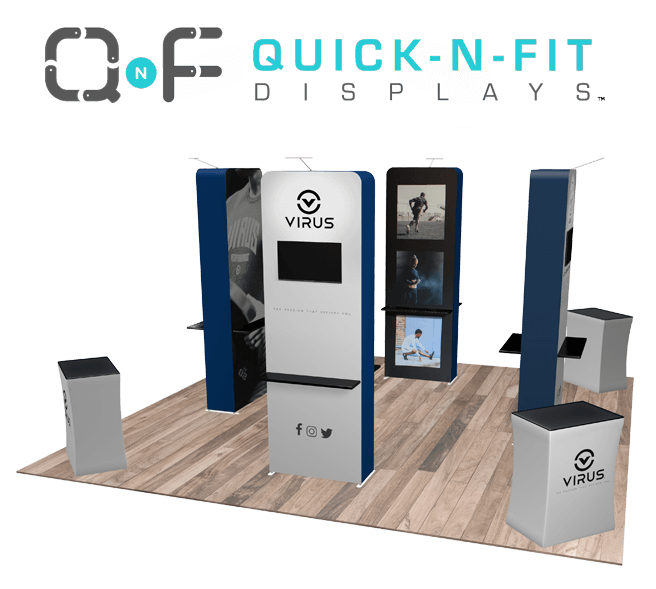 20x20 tradeshow booth displays