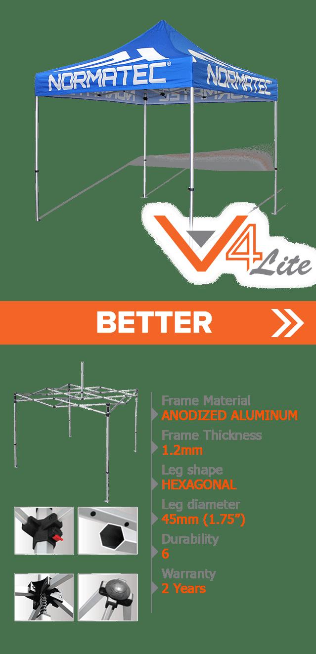 custom printed V4 lite canopy