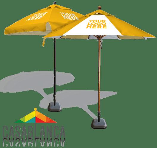Custom cafe umbrellas