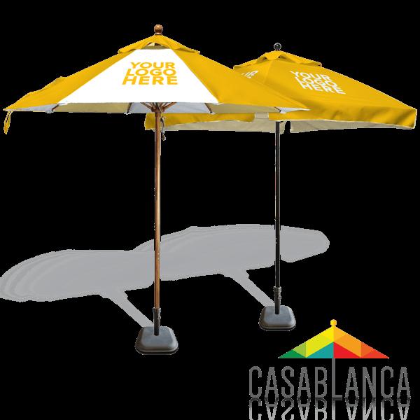 custom printed commercial umbrellas