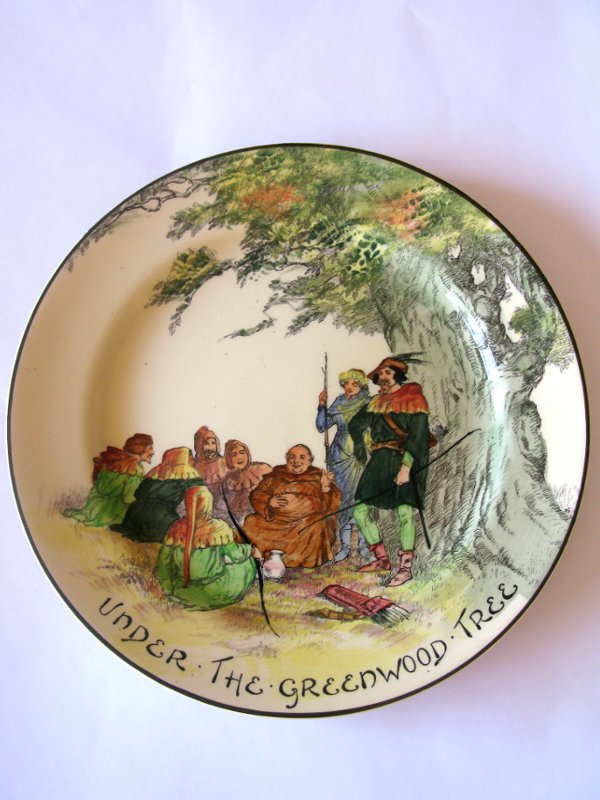 Royal Doulton Plate Under the Greenwood Tree  Halo Antiques
