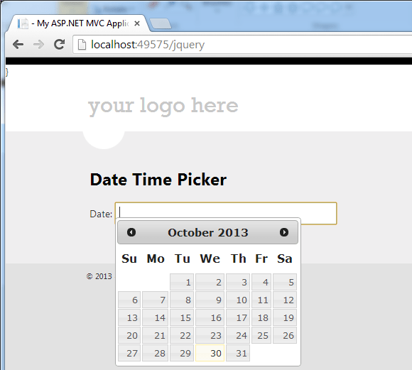 ASP Net MVC 4 jQuery Datepicker – Instinct Coder