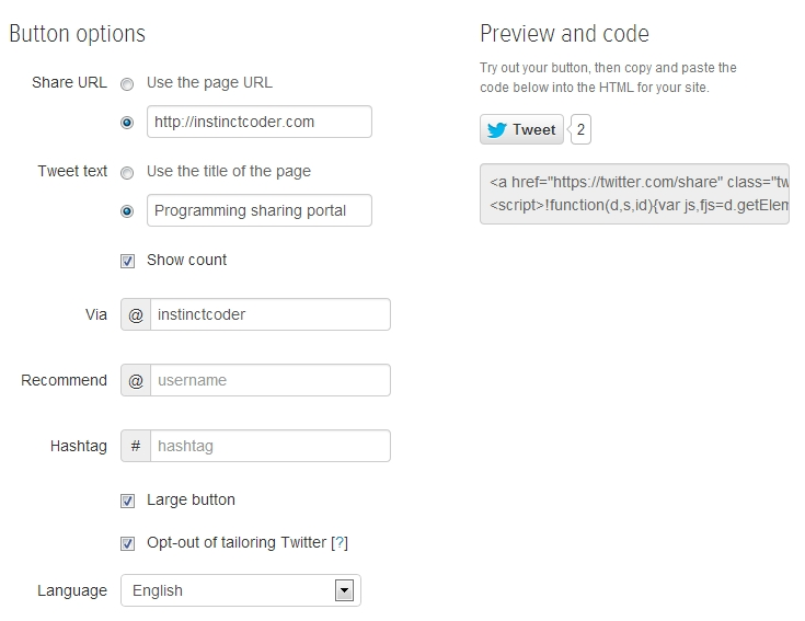How to add google+, facebook, twitter share button in ASP.Net MVC 4