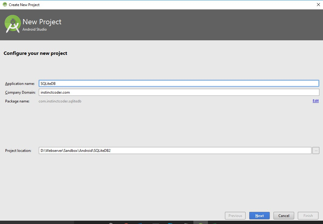 Android Studio SQLite Database Example – Instinct Coder