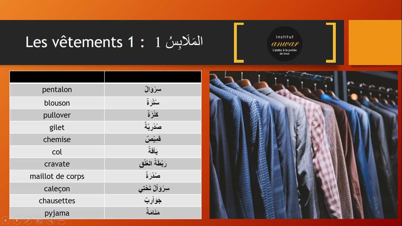 Les vêtements arabe homme