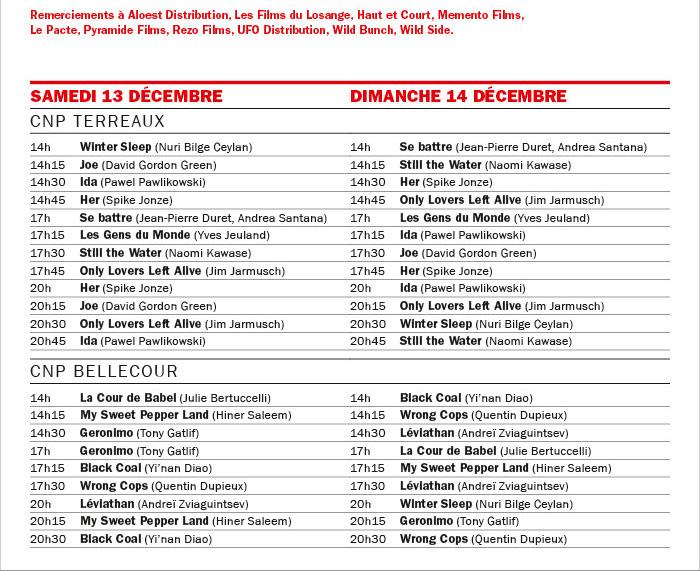 Retour aux CNP ! Week-end spécial 13-14 décembre