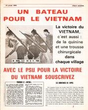 Voir l'appel à la solidarité lancé par Tribune Socialiste N°357, 25 Janvier 1968